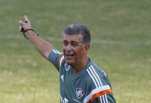 Ricardo Drubscky comandou o Fluminense em apenas oito jogos Foto: Marcos Tristão / O Globo