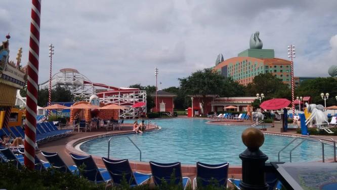 Piscina do hotel Port Orleans, inspirado na região sul dos Estados Unidos Foto: Carolina Mazzi / Agência O Globo