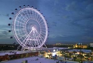 A roda gigante Orlando Eye, uma das novas atrações de Orlando Foto: AP