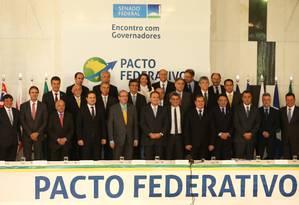 Senado reúne governadores para discutir o pacto federativo Foto: Ailton de Freitas / Agência O Globo
