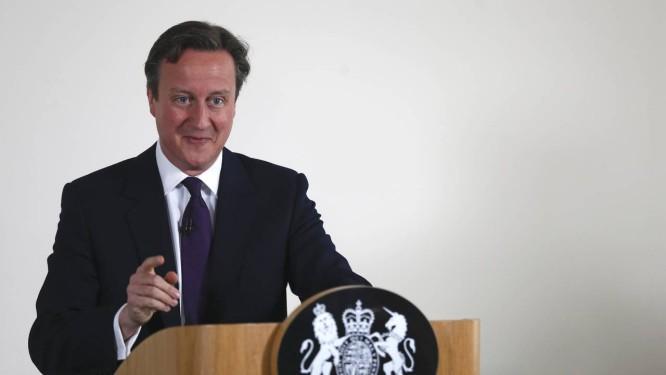 David Cameron. Primeiro-ministro britânico apresentará medidas para conter fluxo migratório para o Reino Unido Foto: POOL / REUTERS