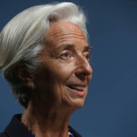 A diretora-gerente do FMI, Christine Lagarde Foto: ALEX WONG / AFP
