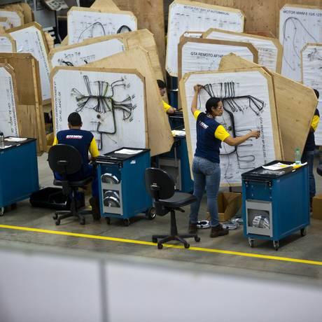 Fábrica de geradores em Itumbiara Foto: Dado Galdieri/29-5-2015 / Bloomberg News