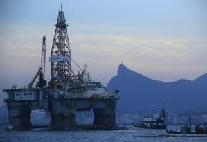 Plataforma da Petrobras na Baía de Guanabara Foto: Dado Galdieri/20-4-2015 / Bloomberg News