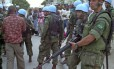 Soldados brasileiros da Missão das Nações Unidas para a estabilização no Haiti (Minustah). Ministro da Defesa, Jacques Wagner, anunciou que tropas deixarão o país no fim de 2016