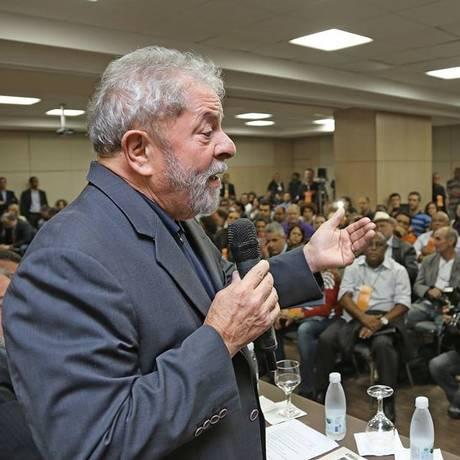 Lula em evento da Confederação dos Trabalhadores do Ramo Financeiro (Contraf) Foto: Ricardo Stuckert/Instituto Lula
