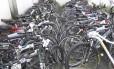 Bicicletas em depósito da 14ª DP (Leblon)