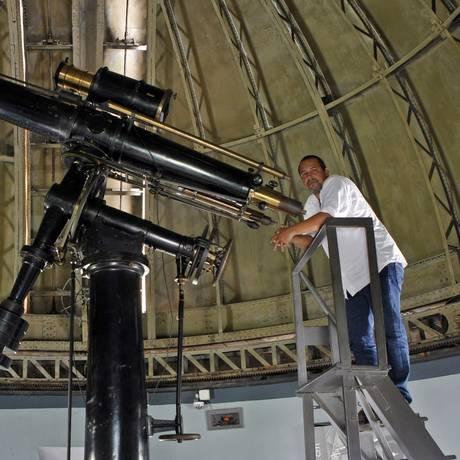 Atração. A observação do céu é uma das atividades mais procuradas no Mast Foto: Agência O Globo / Luiz Ackermann