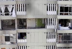 Apartamentos do Edifício Canoas, em São Conrado, onde uma explosão atingiu todas as 72 unidades Foto: Pablo Jacob / Agência O Globo (20/05/2015)