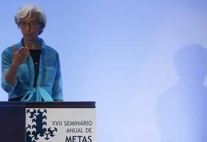 Diretora-gerente do FMI, Christine Lagarde Foto: SERGIO MORAES / REUTERS