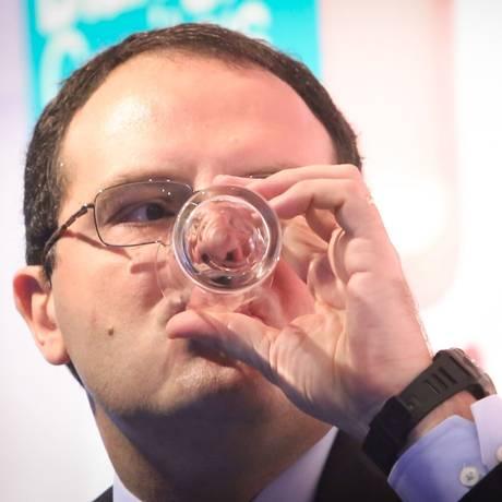 O ministro do Planejamento, Nelson Barbosa, no evento em SP Foto: Marcos Alves / Agência O Globo