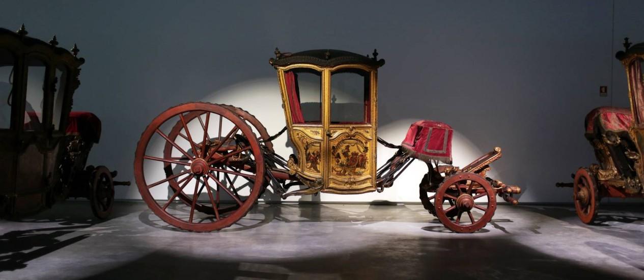 A carruagem encomendada por Dom João V para seus filhos é uma das peças do novo Museu Nacional dos Coches, em Lisboa Foto: Armando Franca / AP