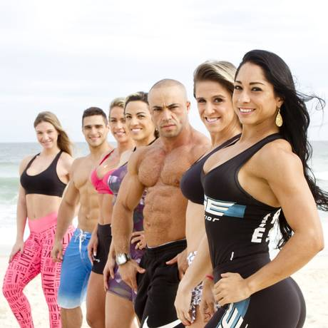 Atletas amadores de body building vão participar do Arnold Classic Foto: Bia Guedes / Agência O Globo