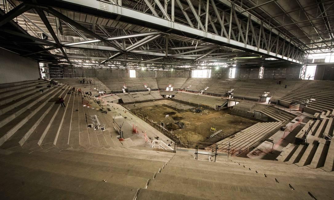 A Arena do Futuro, que receberá jogos de handebol e golbol, tem capacidade para 12 mil pessoas Foto: Renato Sette Camara / Prefeitura do Rio