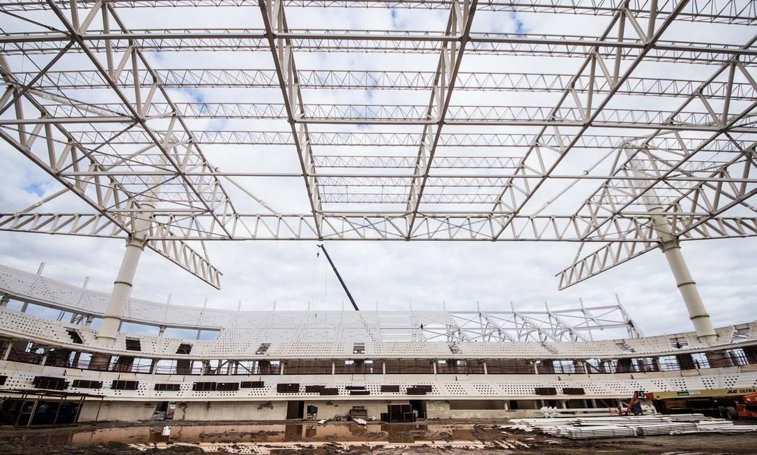 O Estádio Aquático tem capacidade para 18 mil pessoas Foto: Renato Sette Camara / Prefeitura do Rio