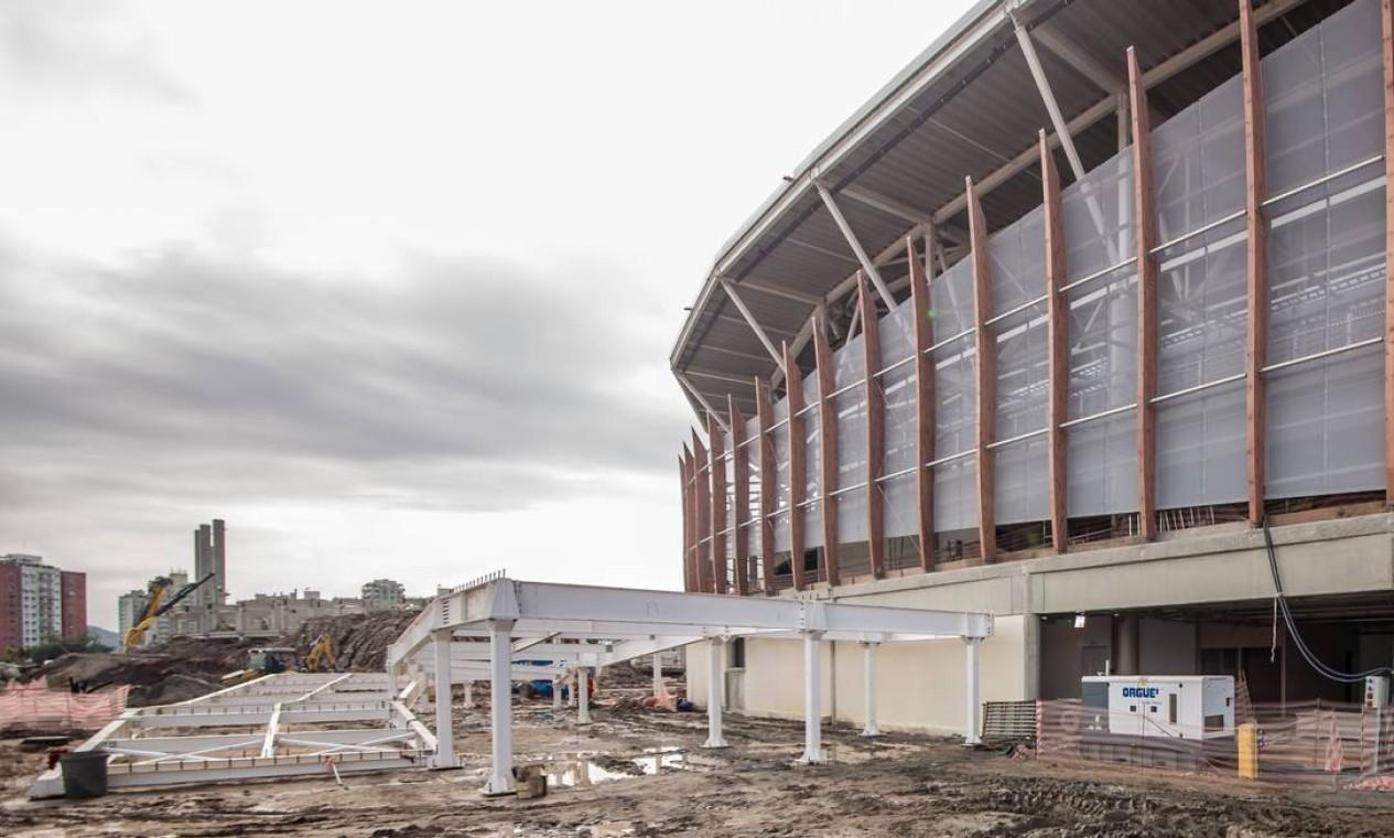 Obras na Arena Carioca 3, palco de esgrima, taekwondo e judô paralímpico Foto: Renato Sette Camara / Prefeitura do Rio