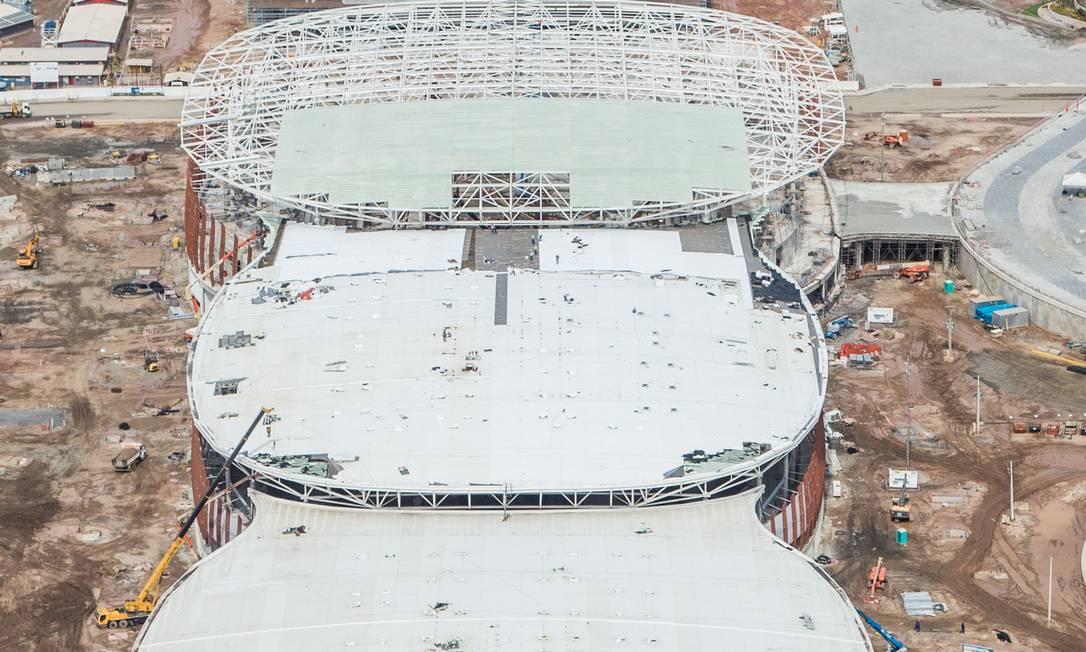Imagem aérea das três Arenas Cariocas e da Arena do Futuro Renato Sette Camara / Prefeitura do Rio