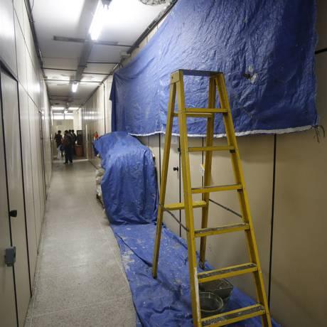 A UFF começou a reformar os prédios e garante que não há riscos Foto: Felipe Hanower / Agência O Globo