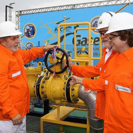 Gasene. Gabrielli, Lula, Dilma e Jacques Wagner inauguram gasoduto na BA Foto: Ricardo Stuckert / ricardo stuckert/pr/26-3-2010