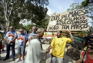 Missa campal foi realizada na Lagoa Foto: Fabio Rossi / Agência O Globo