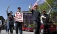 Manifestantes protestam em Cleveland