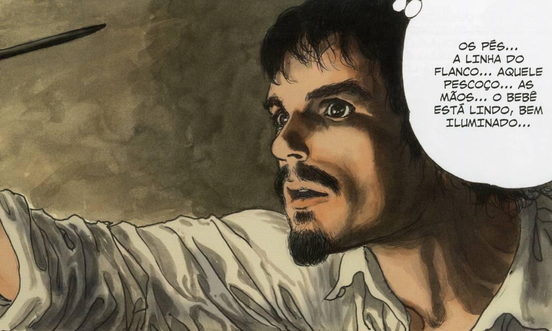 Imagem do Livro 'Caravaggio', de Milo Manara Foto: / Reprodução