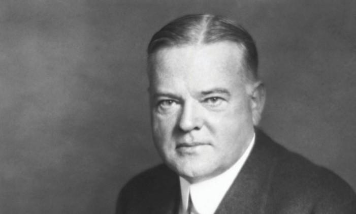 Foto de arquivo do presidente Herbert Hoover Foto: Reprodução