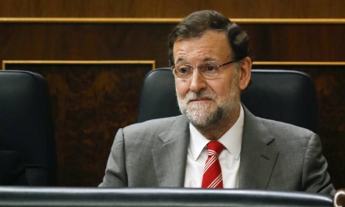 Mariano Rajoy no Parlamento espanhol Foto: ANDREA COMAS / REUTERS