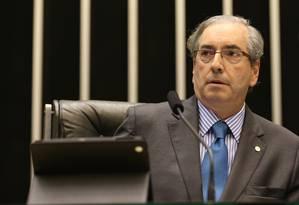 O presidente da Câmara, Eduardo Cunha (PMDB-RJ) Foto: Ailton de Freitas / Agência O Globo