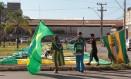 Integrantes do Movimento Brasil Livre chegam a Brasília Foto: Jorge William / Agência O Globo