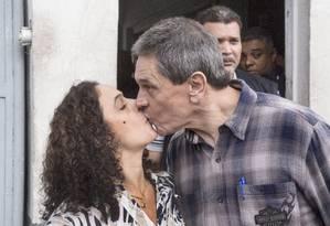 Romance. Jefferson e Ana Lúcia, na saída da prisão, no dia 16: festa depois de regime aberto Foto: ANTONIO SCORZA / Antonio Scorza/16-5-2015
