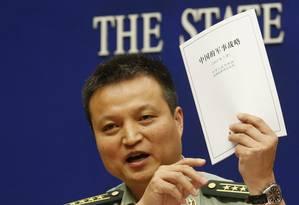 Porta-voz da Defesa, Yang Yujun anunciou reforços em área que já vive tensão Foto: KIM KYUNG-HOON / REUTERS