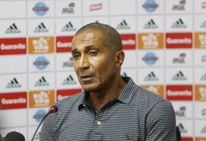 Cristóvão negou ter tido qualquer contato com a diretoria do Flamengo Foto: Marcos Tristão / O Globo