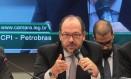Depoimento de Eduardo Leite, ex-vice presidente da Camargo Corrêa à CPI da Petrobras. Foto: Jorge William / O Globo