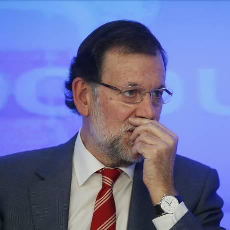 Presidente do governo espanhol, Mariano Rajoy, participa de reunião da Executiva nacional do PP, em Madri Foto: SUSANA VERA / REUTERS
