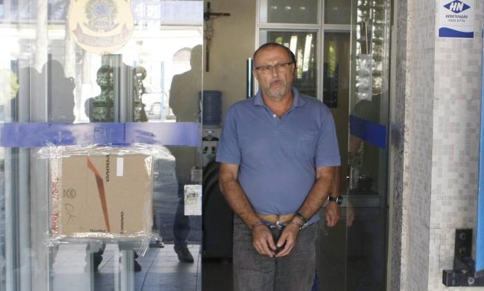 O italiano Pasquale Scotti, membro da organização mafiosa Camorra foi preso no Recife Foto: Hans von Manteuffel / Agência O Globo/26-05-2015