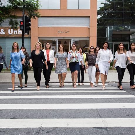 As integrantes do grupo Papo com Glamour: eventos com venda de produtos e serviços, palestras gratuitas e pesquisa de opinião Foto: Bárbara Lopes / Agência O Globo