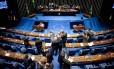 Senadores analisam as medidas de ajuste fiscal propostas pelo governo