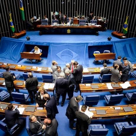 Senadores analisam as medidas de ajuste fiscal propostas pelo governo Foto: Agência Senado