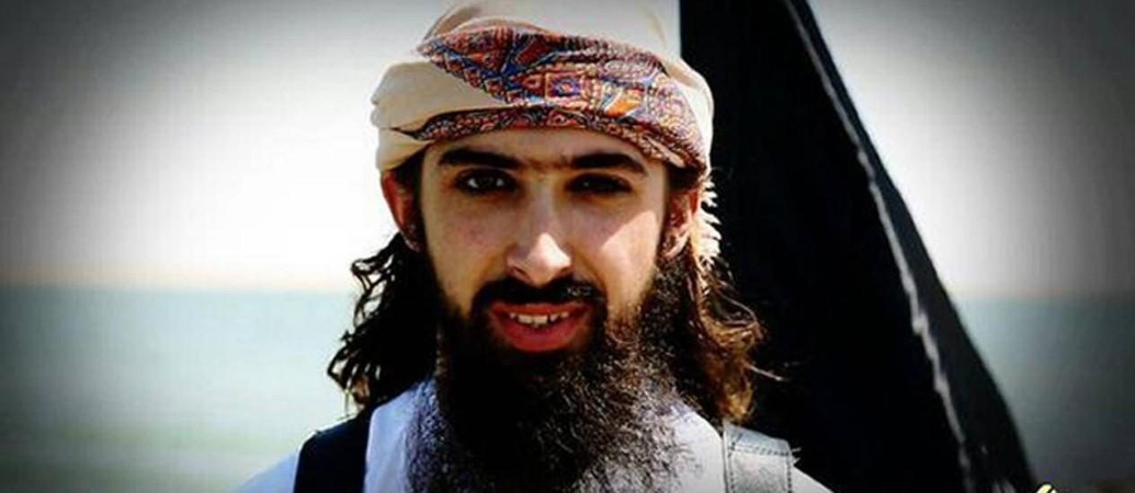 Imagem do Grupo de Inteligência SITE divulgada na última sexta-feira mostra Abu Maryam al Firansi, um dos dois homens que o Estado Islâmico diz serem jihadistas franceses que realizaram atentados suicidas no Oeste do Iraque Foto: HO / AFP