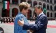 A presidente Dilma Rousseff, durante visita de Estado ao México