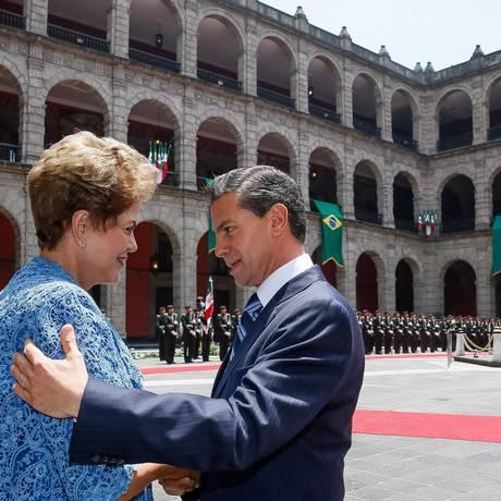 A presidente Dilma Rousseff, durante visita de Estado ao México Foto: Roberto Stuckert Filho / Agência O Globo