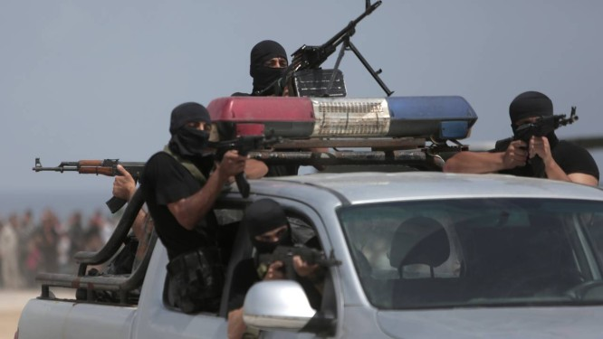 Forças de segurança do Hamas na Faixa de Gaza Foto: AP/21-5-2015