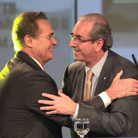 Presidentes do Senado e da Câmara, Renan Caheiros e Eduardo Cunha Foto: Jorge William / Agência O Globo