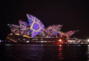 Sydney Opera House iluminada para o festival