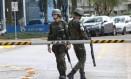Militares fazem segurança na Sabesp Foto: Marcos Alves / O Globo