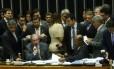 Eduardo Cunha se reúne com líderes de partidos na mesa da Câmara