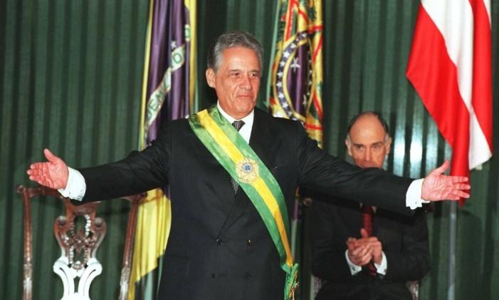 O ex- presidente Fernando Henrique Cardoso no dia de sua posse, em 01 de janeiro de 1999. Foto: Roberto Stuckert Filho / O Globo