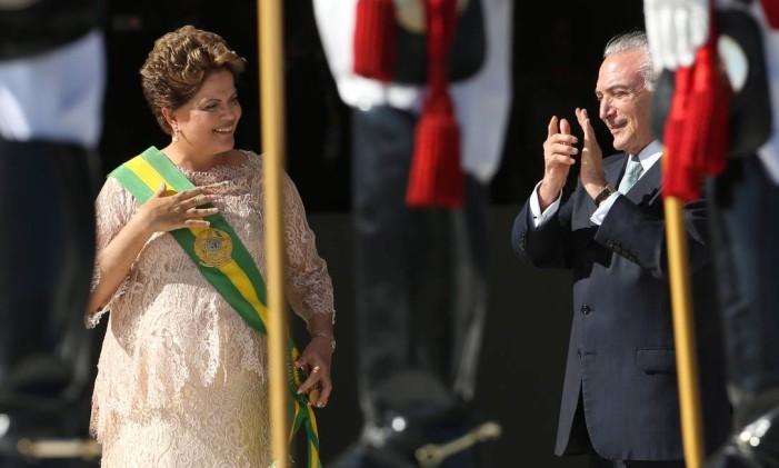 A Presidente Dilma durante solenidade de posse. Foto: Ailton de Freitas / Arquivo O Globo 05/01/2015