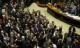 Plenário da Câmara durante votação da reforma política